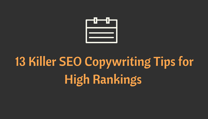 SEO Copywriting Tips for High Rankings