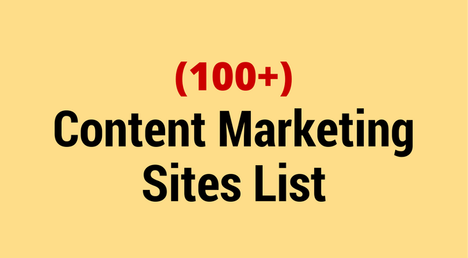 Content Marketing Sites List by eMarketingBlogger