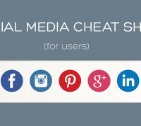social media cheatsheet for users
