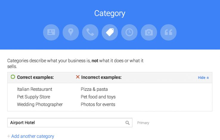 check category Google My Business