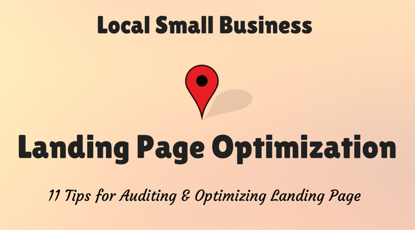website landing page optimization for local small business