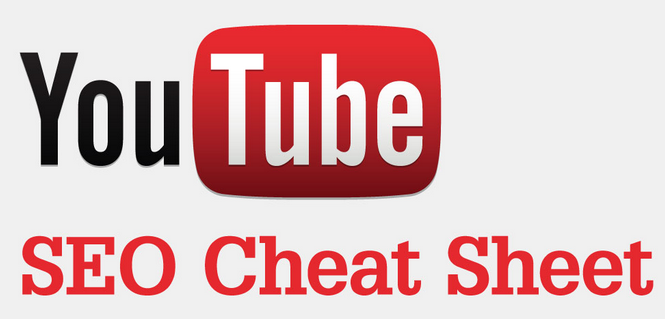 YouTube seo optimization cheatsheet