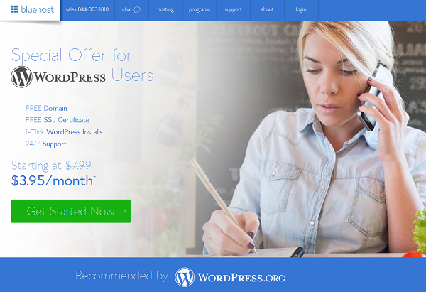 Bluehost WordPress Hosting Discount