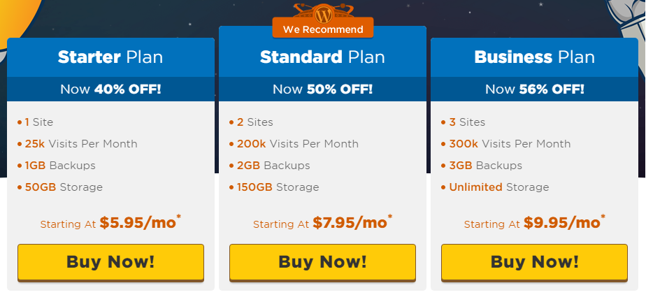 Tell Me about the Business Hosting Plan