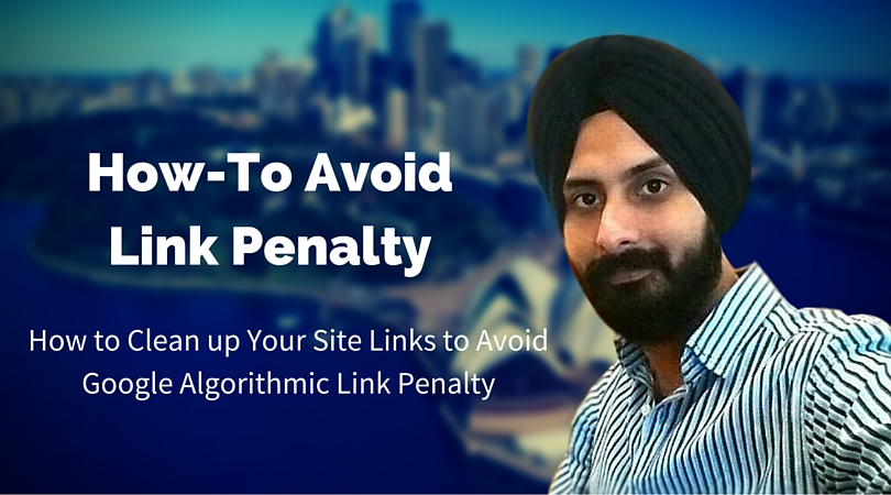 how to avoid Google link penalty