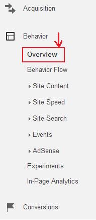 check page views in Google analytics