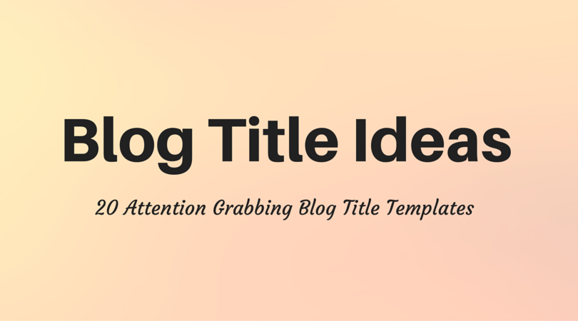 how to blog post title templates