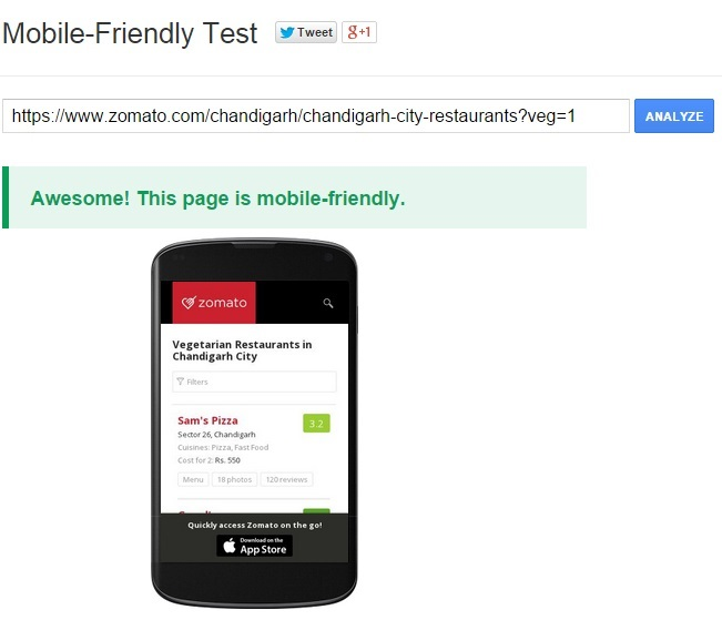 check site mobile responsibe design