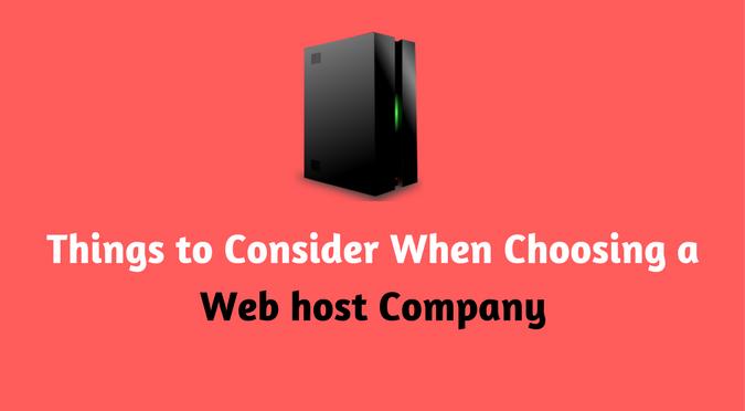 Choosing a Web Host Company Provider